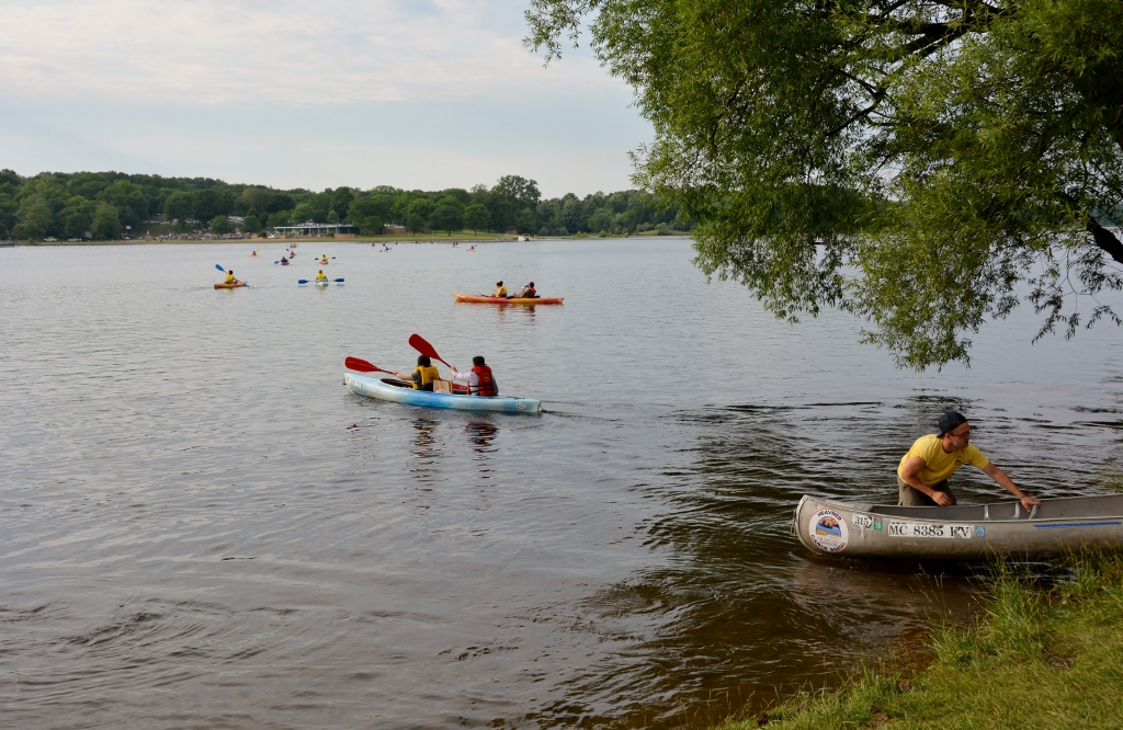 Kent Lake at Kensington Metropark welcomes Paddle to the Symphony every year - photo by Michael Dwyer